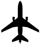 Jet Aircraft Silhouette v2 Decal Sticker