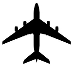 Jet Aircraft Silhouette v3 Decal Sticker