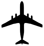 Jet Aircraft Silhouette v4 Decal Sticker