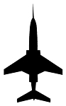 Jet Aircraft Silhouette v6 Decal Sticker