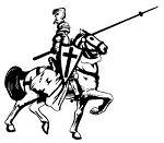Jousting Knight v4 Decal Sticker