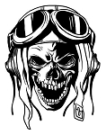 Kamikazi Skull Decal Sticker
