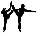 Karate Silhouette v1 Decal Sticker