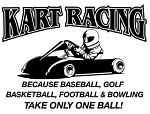Kart Racing Takes Balls v2 Decal Sticker