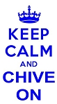 Keep Calm and Chive On Decal Sticker