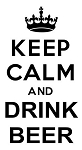Keep Calm and Drink Beer Decal Sticker