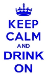 Keep Calm and Drink On Decal Sticker