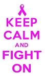 Keep Calm and Fight On Decal Sticker
