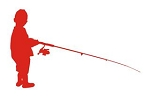 Kid Fishing Silhouette Decal Sticker