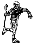 Lacrosse Decal Sticker