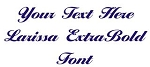 Larissa ExtraBold Font Decal Sticker