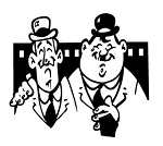 Laurel and Hardy Decal Sticker
