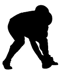 Football Lineman Silhouette Decal Sticker