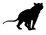Lion Silhouette v7 Decal Sticker