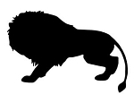 Lion Silhouette v8 Decal Sticker