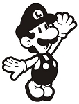 Luigi Decal Sticker