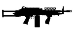 MK47 Machine Gun Silhouette Decal Sticker
