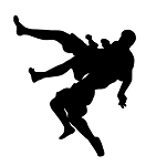 MMA Fighters Silhouette v2 Decal Sticker