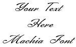 Machia Font Decal Sticker