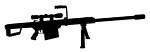 Machine Gun Silhouette Decal Sticker