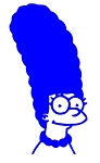 Marge Simpson v1 Decal Sticker