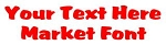 Market Font Decal Sticker