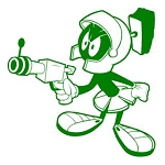 Marvin the Martian v3 Decal Sticker