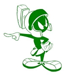 Marvin the Martian v4 Decal Sticker