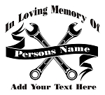 Mechanic Memorial Decal Sticker