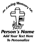 Memorial Cross Decal Sticker