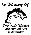 Memorial with Bass Decal Sticker