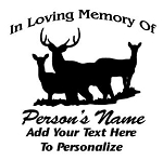 Memorial with Deer v1 Decal Sticker