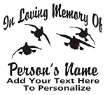 Memorial with Ducks Decal Sticker