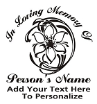 Memorial with Flower v2 Decal Sticker