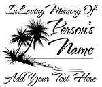 Memorial with Palm Trees Decal Sticker