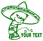 Mexican Pee On Decal Sticker