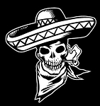 Mexican Skull Decal Sticker