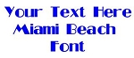 Miami Beach Font Decal Sticker