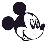 Mickey Mouse Head v1 Decal Sticker