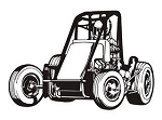 Midget Racecar v1 Decal Sticker