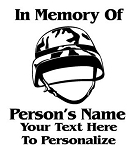 Military Memorial v4 Decal Sticker