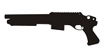 Military Shotgun Silhouette Decal Sticker