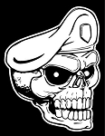 Military Skull v2 Decal Sticker