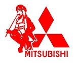 Mitsubishi Girl v1 Decal Sticker
