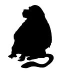 Monkey Silhouette v5 Decal Sticker