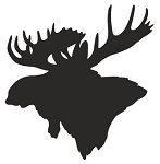 Moose Head Silhouette Decal Sticker