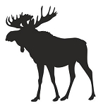 Moose Silhouette v10 Decal Sticker
