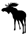 Moose Silhouette v3 Decal Sticker