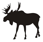 Moose Silhouette v9 Decal Sticker