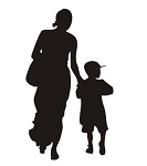 Mother and Child Silhouette v1 Decal Sticker